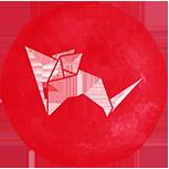 A red rat symbol