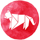 A red tiger symbol