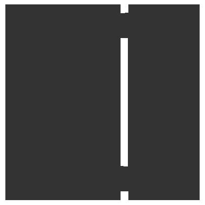 The gemini zodiac sign in black.